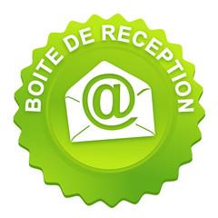boite de réception sur bouton web denté vert