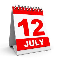 Calendar. 12 July.