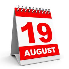 Calendar. 19 August.