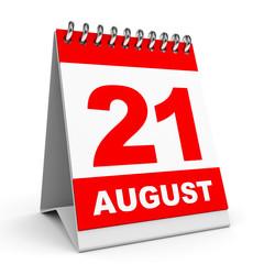 Calendar. 21 August.