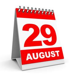 Calendar. 29 August.