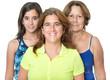 Three generations in a family of hispanic women