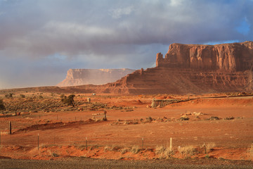Monument Valley,sandstorm