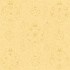 Goldene Weihnachtskugeln Ton-in-Ton auf gold
