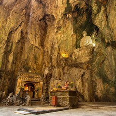Buddhist pagoda in Huyen Khong cave in Marble Mountains at Da Na
