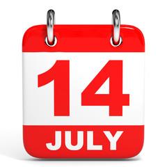 Calendar. 14 July.