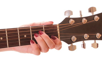Girl is playing guitar vulture