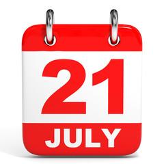 Calendar. 21 July.