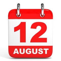 Calendar. 12 August.