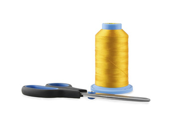 Spool of Thread with Scissors