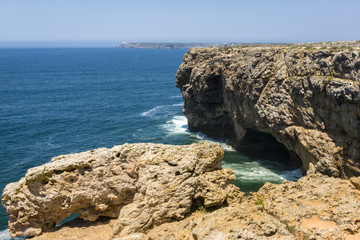 Coastline of Atlantic Ocean in Sagres, Portugal