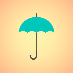 umbrella icon on orange background