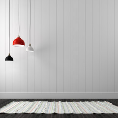 Hanging lamp in interior
