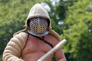 Close-up of a Gladiator