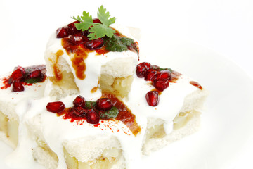 Closeup of delicious bread dahi vada