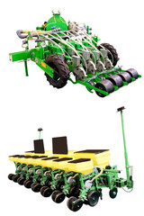 The image of agricultural machine