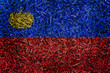 Liechtenstein Flag color grass texture background