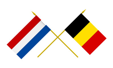 Flags, Netherlands and Belgium