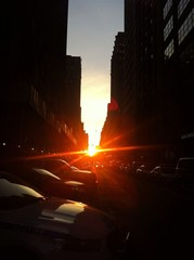 Sunset on Manhattan Street