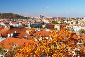 Autumn view of Prague, Czech Republic
