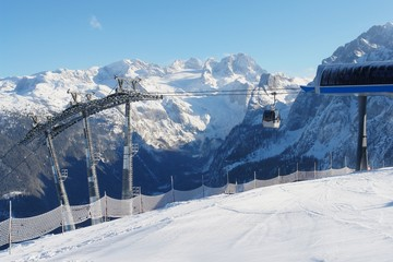 Winter sports region Dachstein West, Austrian Alps