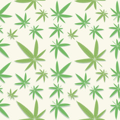 Green cannabis leaves pattern