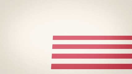 American flag texture animation