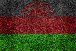 Malawi Flag color grass texture background