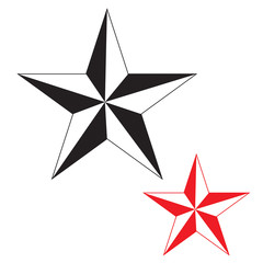 Black&Red stars icon