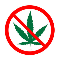 Stop Cannabis sign