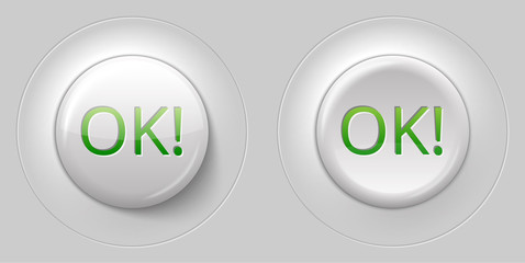 big white glossy OK button