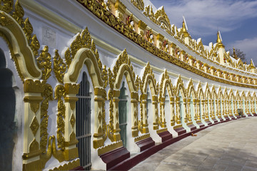 U Min Thonze Buddhist Temple On Sagaing Hill