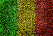 Mali Flag color grass texture background