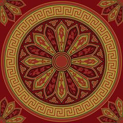 vector seamless gold Greek ornament (Meander)