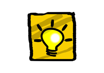 idea light bulb drawing vector design element