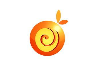 orange juice fruit vector design element