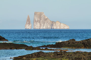 Kicker Rock (Leon dormido) in San Cristobal island