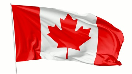 Flag of Canada on flagpole