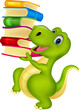 Cute dinosaur with book - 67013191