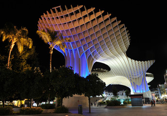 Metropol Parasol at night, Setas, Sevilla, Spain