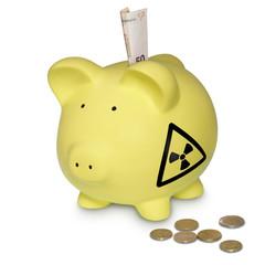 Symbol für Atomkraft Ausgaben
