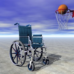 Basketball for handicapped - 3D render