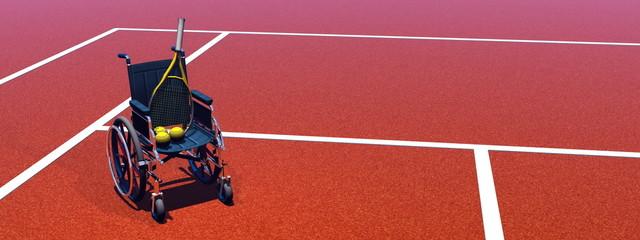 Tennis for handicapped - 3D render