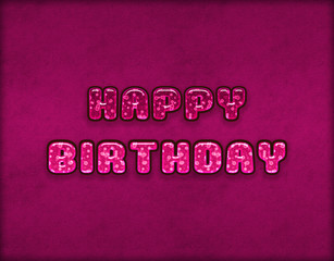 Illustration of shiny happy birthday text effect