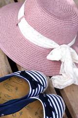 Espadrilles and Summer Hat
