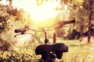 Fahrrad im wunderschönen Sonnenlicht