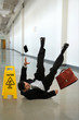 Mature Businessman Falling