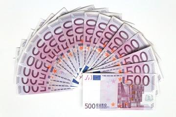 Fünfhundert Euro Scheine