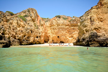 Praia da Balanca, Hidden beach near Lagos, Algarve Portugal