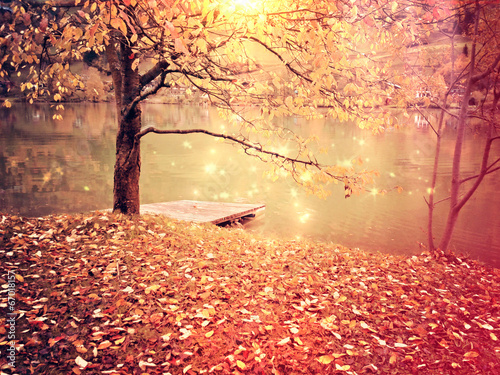canvas print picture silent lake